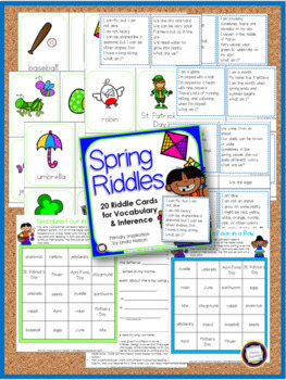 Vocabulary Riddles for Spring, Summer, Autumn, and Winter Bundle