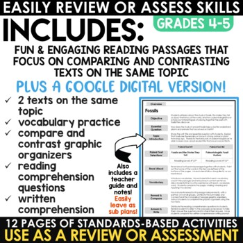 Paired Texts | Paired Passages Fossils