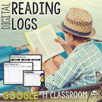 Digital Reading Logs: Week & Month Reading Logs for GOOGLE CLASSROOM