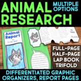 Animal Report Templates & Graphic Organizers - Distance Learning