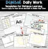 Daily Lesson Templates Distance Learning Google Slides
