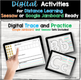 Digital Letter Activities for Jamboard or Seesaw Distance