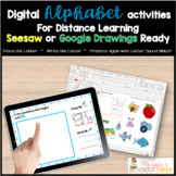 Letter Sounds Writing Practice Seesaw and Google Ready Dis