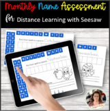 Monthly Name Assessment Seesaw Activities