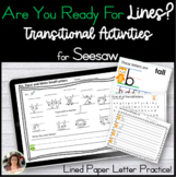 Seesaw Digital Writing Paper Transition from Lined Paper D