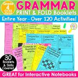 4th Grade ELA Print & Fold Booklets - Grammar Activities Trifold