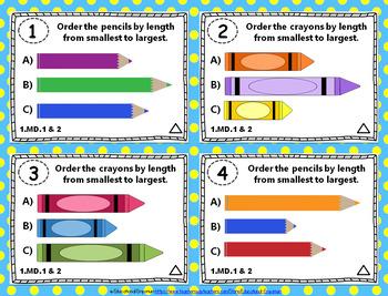 1st Grade MD Task Cards: First Grade Measurement & Data Task Cards, 1.MD Centers