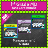 1st Grade MD Task Cards: First Grade Measurement & Data Task Cards, 1.MD Centers