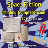 20 Space Reading Comprehension Passages w/ Audiobooks, Fun