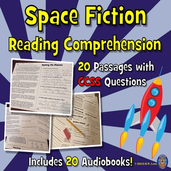 20 Space Reading Comprehension Passages: Close Reading Tex