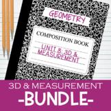 3D & Measurement Bundle Interactive Notebook Notes