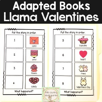 Adapted Books for Special Education: February Valentines Day