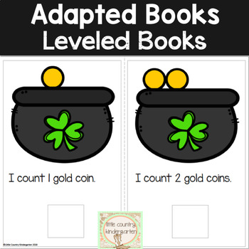 Math Adapted Books: March St. Patrick's Day
