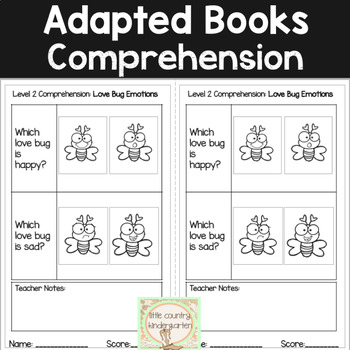 Feelings and Emotions: February Adapted Books for Special Education