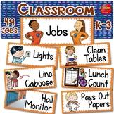 EDITABLE Classroom Jobs Visual Supports: Regular & Special Education K-3rd