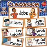 Classroom Jobs EDITABLE with Pictures: Regular & Special E