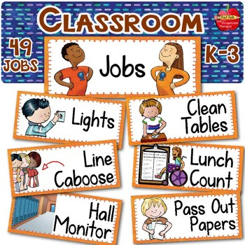 Classroom Jobs With Visual Supports for Regular & Special