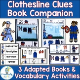 Clothesline Clues Community Helpers Adapted Book Companion