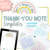 End of the Year, Teacher Appreciation, Thank You Notes DIS