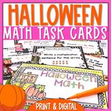 Halloween Math Task Cards + Flipbook