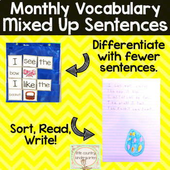 Mixed Up Sentences: April Bundle