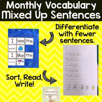 Mixed Up Sentences: Puddles