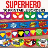 Printable Bulletin Board Borders, Superhero Theme Decor, Classroom Display