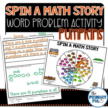 Spin a Math Story: Pumpkin Word Problems