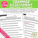3rd Grade Grammar Assessment   Weekly Tests   Standard Based Worksheets