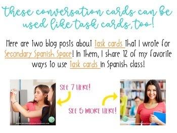 48 Preterite vs Imperfect Conversation Cards | Spanish Speaking Activity