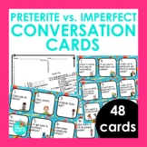 48 Preterite vs Imperfect Conversation Cards | Spanish Spe