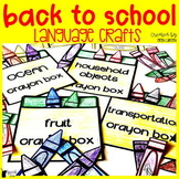 Back to School Language Craft