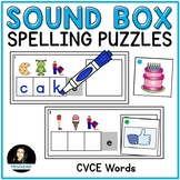 CVCE Sound Boxes Spelling Puzzles Secret Word
