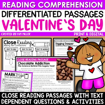 Chocolate Addiction Close Reading Comprehension Passages