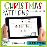 Christmas Math Patterns Activity - Adapted for Autism (ABAB, ABC, AAB, ABB)