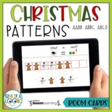 Christmas Math Patterns Activity - Adapted for Autism (AABB, ABBC, ABCD)