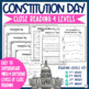 Constitution Day Differentiated Close Reading Pack + Activities