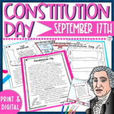 Constitution Day Close Reading Activities - Printable and Digital