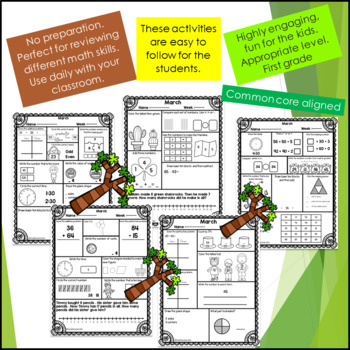 Math Review First Grade -March