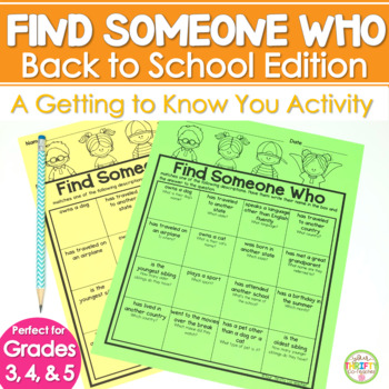 Find Someone Who Back to School Icebreaker Activity