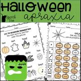 Halloween Apraxia Printables