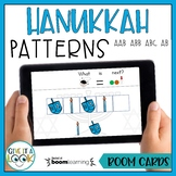 Hanukkah Math Patterns Activity - Adapted for Autism (ABAB, AAB, ABB, ABC)