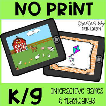 No Print Articulation: K and G