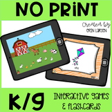 K and G Articulation NO PRINT Flashcards and Interactive Games
