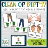 Life Skills Special Education Activities | Clean or Dirty