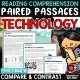 Paired Passages Technology Then and Now Print and Digital Distance Learning