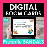 Preterite Sandal Verbs Spanish BOOM CARDS | IR Stem changers