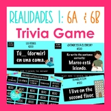 Realidades 1: Capítulos 6A & 6B Jeopardy-style Trivia Game | Spanish Review Game