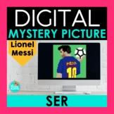 SER Spanish Digital Mystery Picture | Lionel Messi Pixel Art