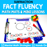 Subtraction Math Mats & Mini Lessons with Mental Math Strategies